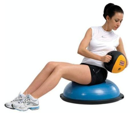 Bosu Ball Home Balance Trainer Review - Bosu Workout Exercises