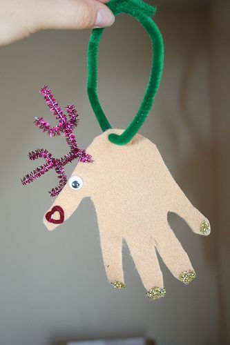 My family does a different christmas activity every day of December. These handprint reindeer ornaments were one of our choices last year. I can't wait to watch the reindeers get bigger  more creative over the years