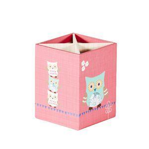 Owls Pen Cup Pink
