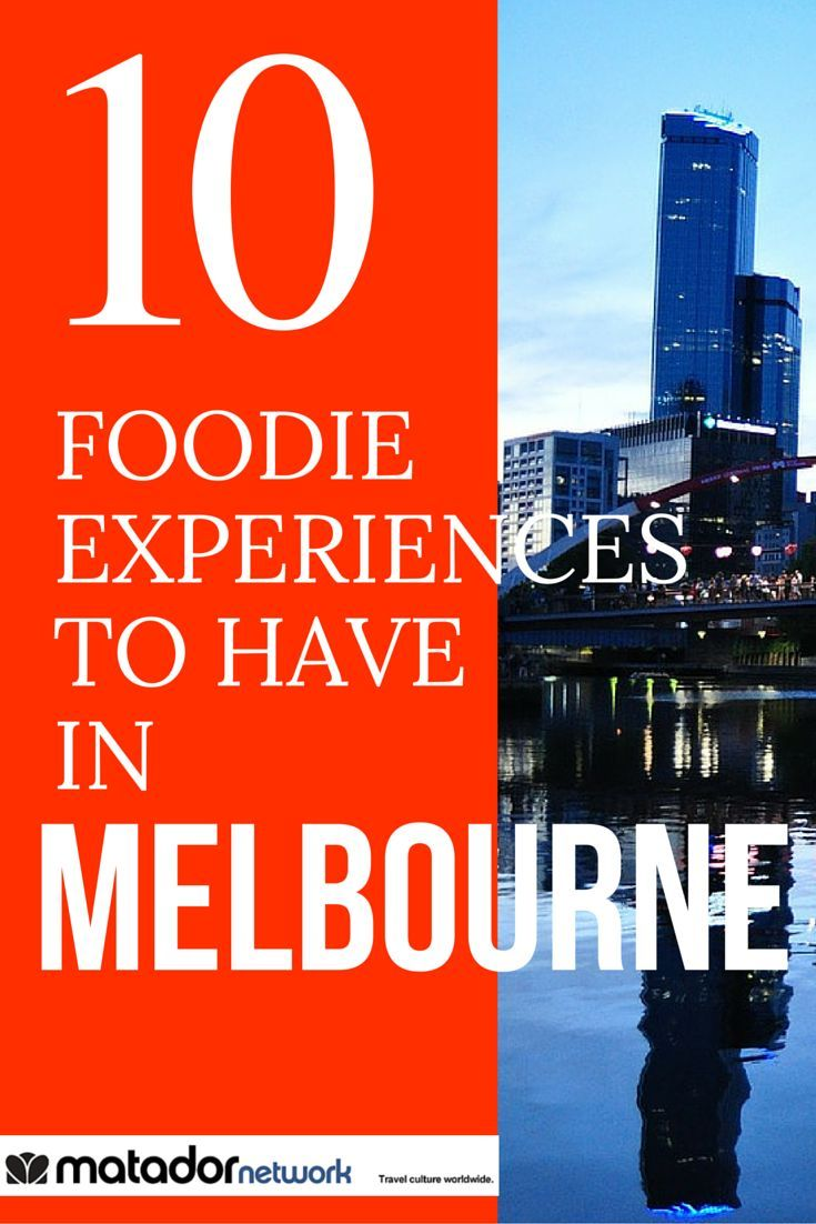 Visiting Melbourne, Australia and looking for some fun things to do? Check out these 10 food experiences you need to have in Melbourne before you die. Enjoy your foodie travels and discover the more travel destinations at MatadorNetwork.com