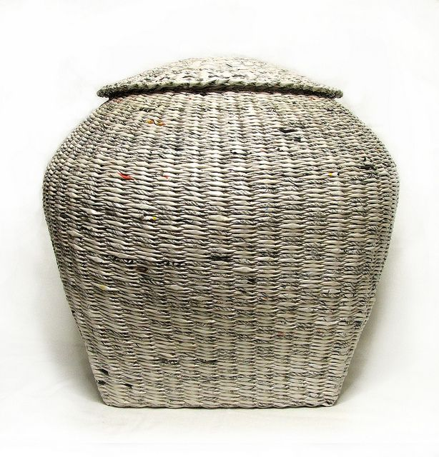 Basket Weaving Paper Crafts : Basket weaving with rolled paper crafts