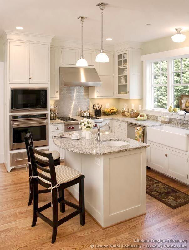 Joy Miller Another Kitchen Idea I Like The Panels On The Island And Open Window Traditional White Kitchenscontemporary Small