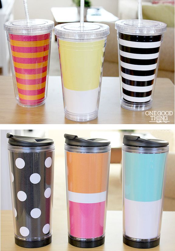 Make Your Own Quot Designer Quot Insulated Tumblers Amp Mugs Diy