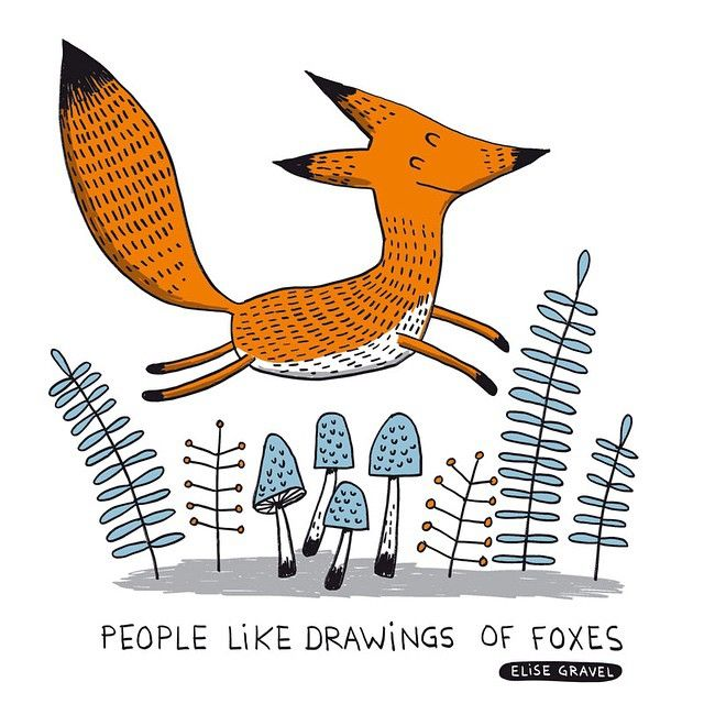 People like drawings of foxes. #fox #illustration #doodle
