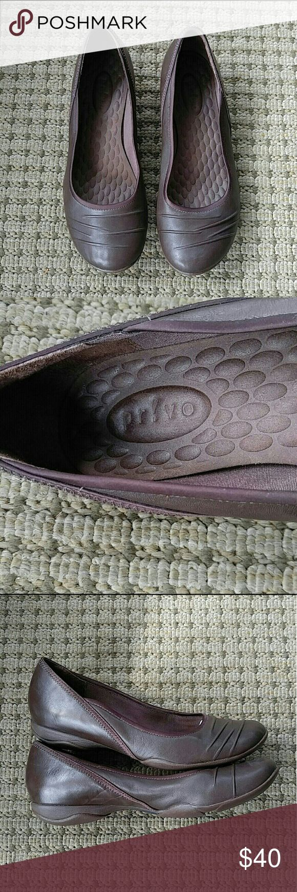 Privo by Clark's Leather Flats These flats are so comfortable and they have 100% leather uppers! They are in excellent pre-loved condition and have only been worn a few times! Thanks for looking! :) Privo by Clark's Shoes Flats & Loafers