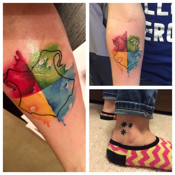 My two Harry Potter tattoos!