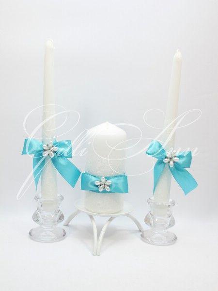 Свечи Домашний очаг Gilliann Magic Biruza CAN079 набор из 3 свечей