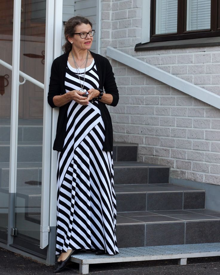 striped maxidress