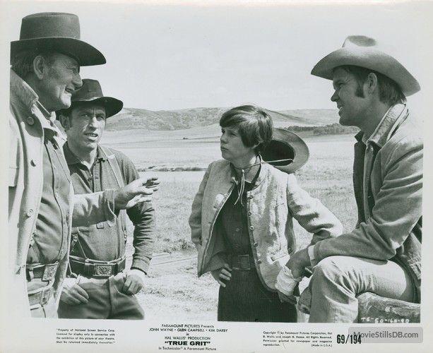 True Grit - Publicity still of John Wayne, Kim Darby & Glen Campbell