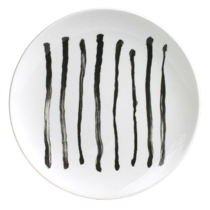 #vtwonen #magazine #interior #white #black #porcelain #homecollection #tableware #plate #graphic #black #stripes