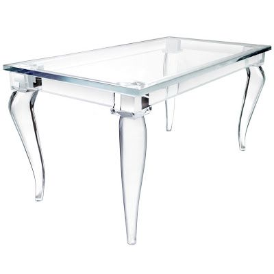 Affordable Lucite Furniture | Discount Dining Table on Copy Cat Chic Chic For Cheap Lucite Love