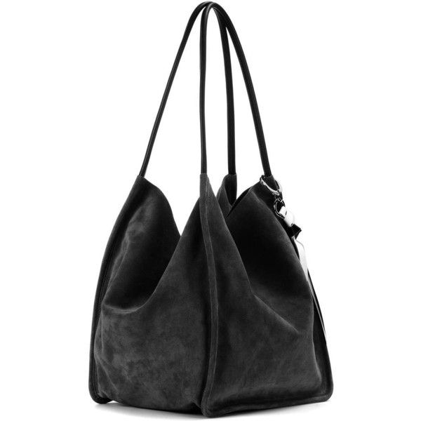 Proenza Schouler Extra Large Suede Tote ($1,000) ❤ liked on Polyvore featuring bags, handbags, tote bags, suede tote handbag, suede handbags, brown tote handbags, suede tote bags and brown suede purse