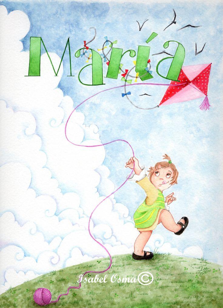 Ilustración en acuarela de Isabel Osma