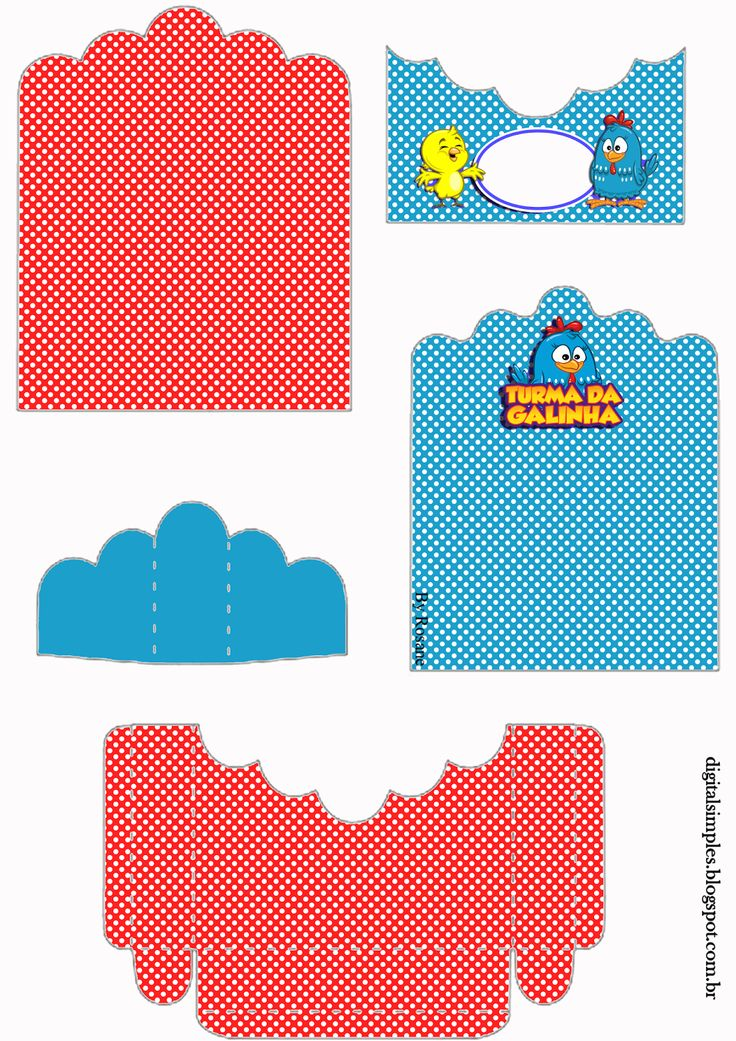 Lottie Dottie Chicken: Free Printable Candy Package Supports.