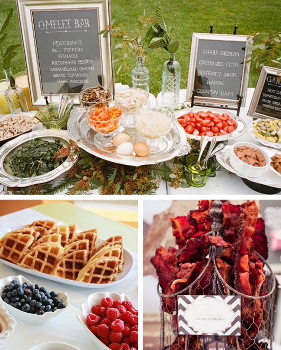 Brunch wedding inspiration #foodie