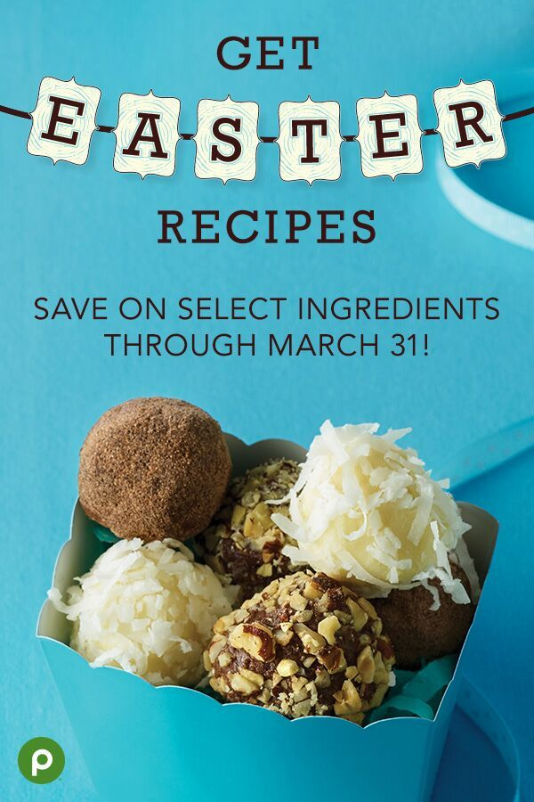 Looking for a new way to enjoy chocolate this Easter? Try Cotton Tail, Hazelnut Crunch, and Chocolate Cherry Truffles from Publix Aprons. They're fun and easy to make as gifts, party favors, or treats for the kids! Plus, see more tasty ideas and even get coupons to save on select ingredients for that special brunch, dinner, or dessert. #chocolaterecipes