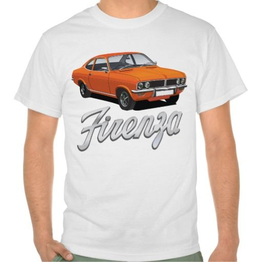 Vauxhall Firenza orange with text  #vauxhall #firenza #vauxhallfirenza #automobile #tshirt #tshirts #70s #classic
