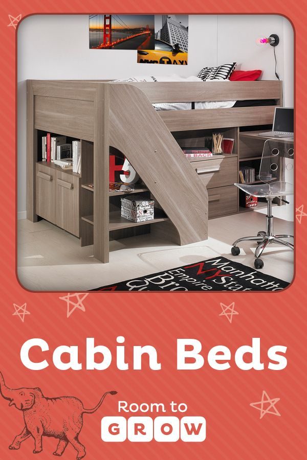 From 6+ your child can enjoy the delights of a cabin bed. Fun play tents, towers, tunnels and slides all add to the magic but are also designed as great space savers. Under cabin beds drawers, storage units and pull out desks can all be included to suit an older child.