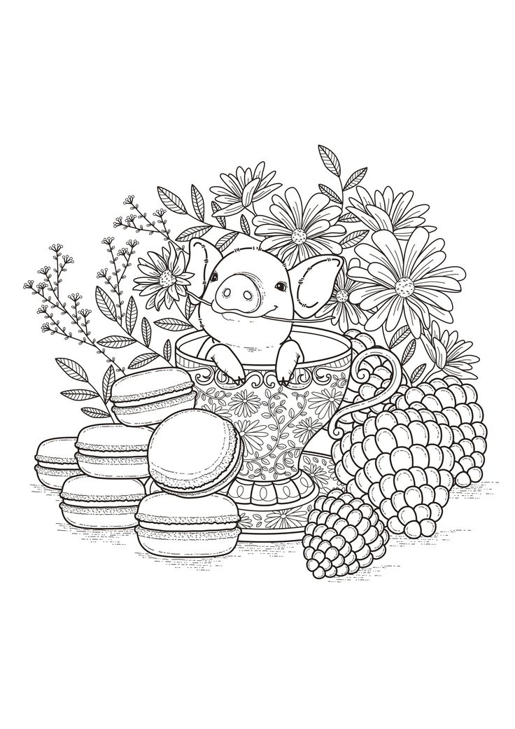 86 Best Flowers Coloring Pages Images On Pinterest
