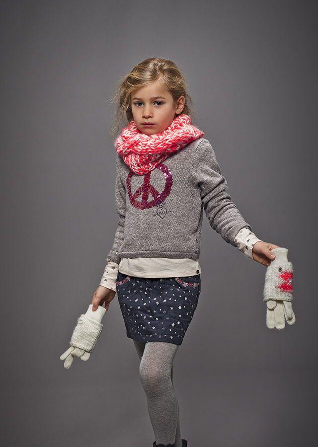 Vêtements de marque enfant IKKS : Sweat fille