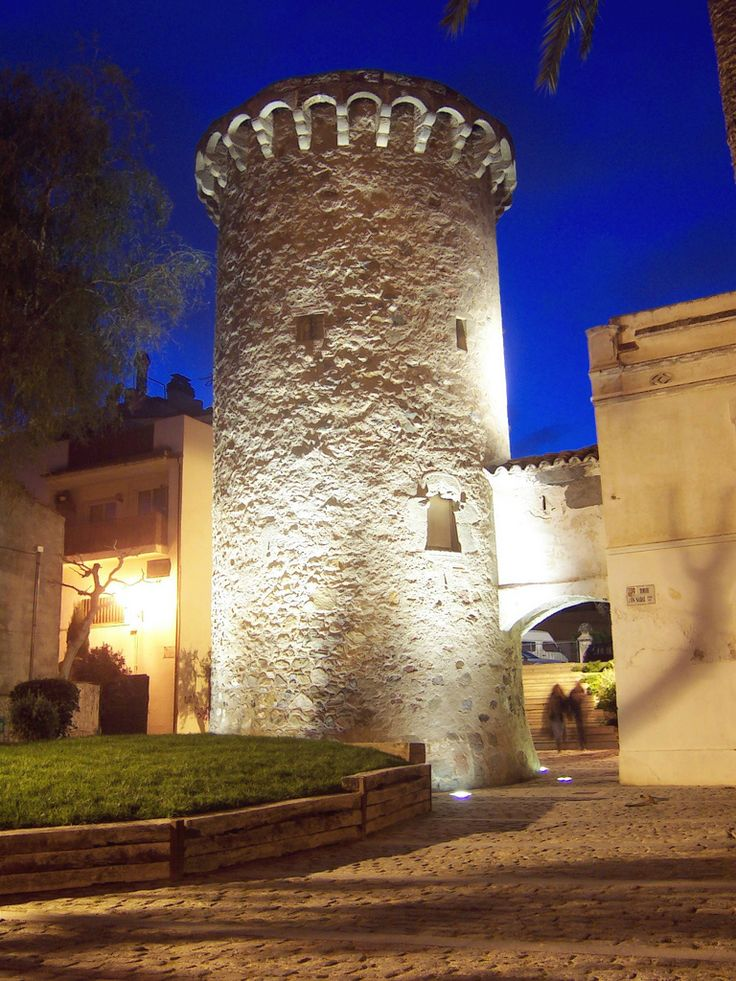 Torre de Can Nadal a Vilassar De Mar (Maresme). -Watchtower coast. XV century. Vilassar de Mar in Catalonia.