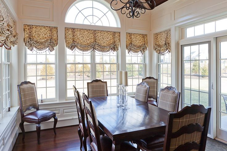 8 best dining room window treatments images on pinterest for Formal dining room window treatments