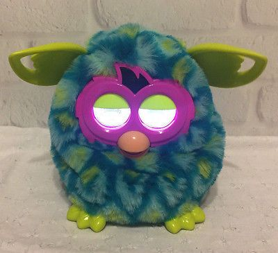 Furby Boom Peacock Blue Green Hasbro 2012 Electronic Interactive Works