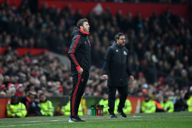 Michael Carrick Assistant Manager Of Manchester United Reacts During Michael Carrick Manchester United Manchester