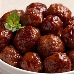 Use ready-made meatballs -and some sweet-and-sour ingredients -to get the tangy, slow-cooked taste on this toothpick treat.