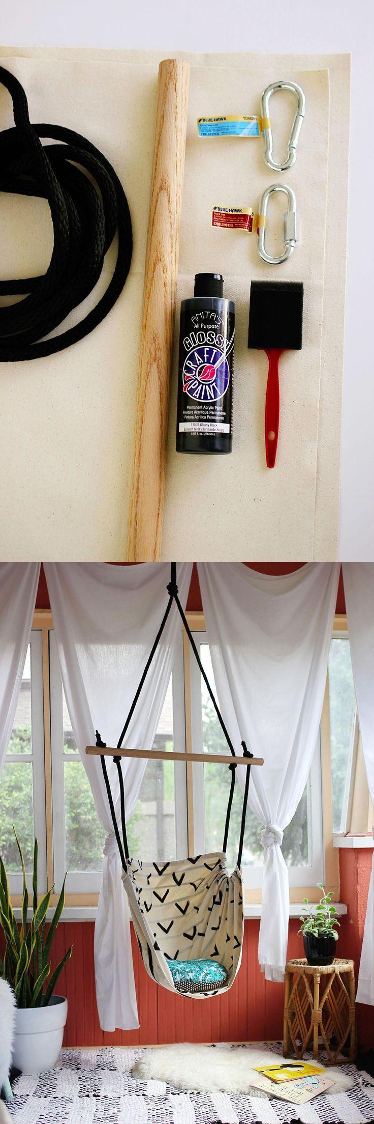 Silla colgante DIY / http://www.abeautifulmess.com/