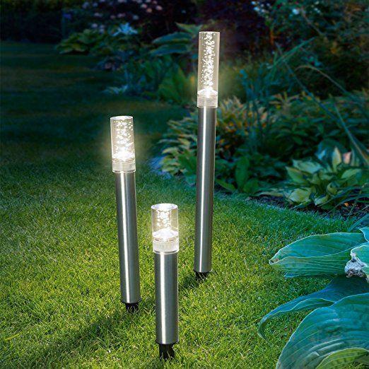 Solar Designleuchten Triosticks Lichtfarbe 2800k Warmweiss Solarlampen Gartenleuchten Esotec Solarleuchten Garten Solarle Led Leuchtstabe Leuchten