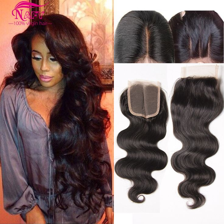 7A Brazilian Body Wave Lace Closure 4x4 Human Hair Lace Closure Bleached Knots Free Middle 3 Part Virgin Hair Lace Top Closures