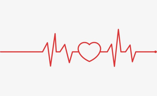 Red Love Line Love Vector Line Vector Electrocardiogram Png And
