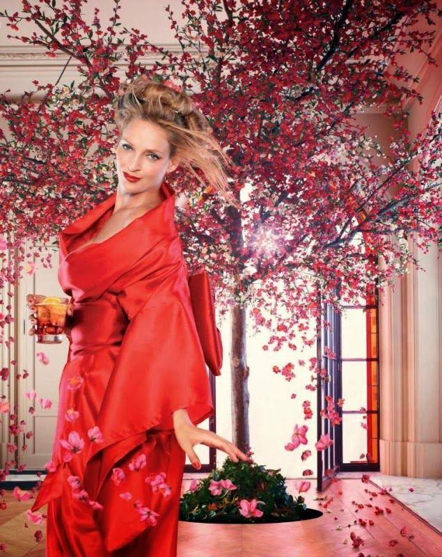 Uma Thurman Stars in Campari Calendar 2014