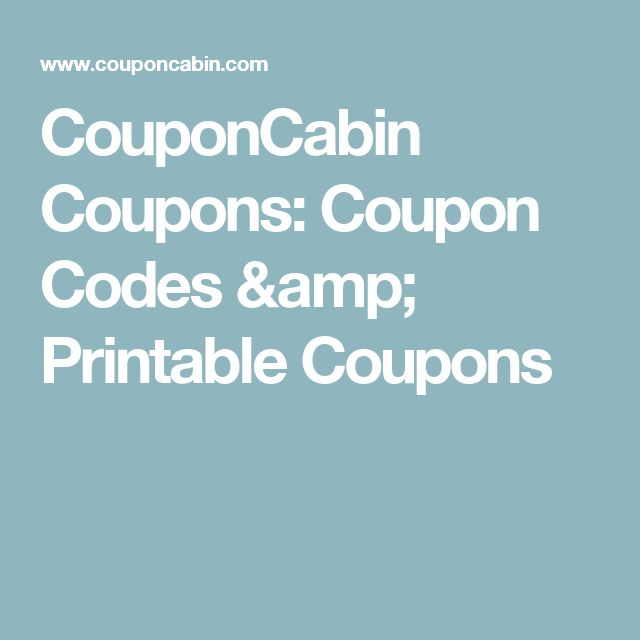 44 best bargin images on pinterest book buyback clean eating couponcabin coupons coupon codes printable coupons fandeluxe Gallery