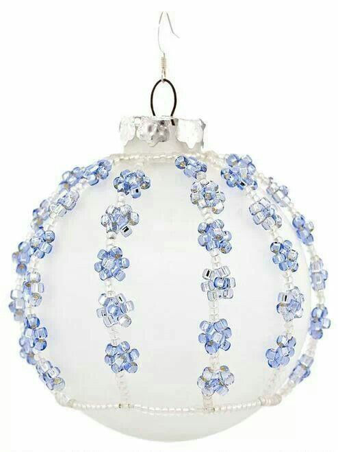 Snowy skies bauble
