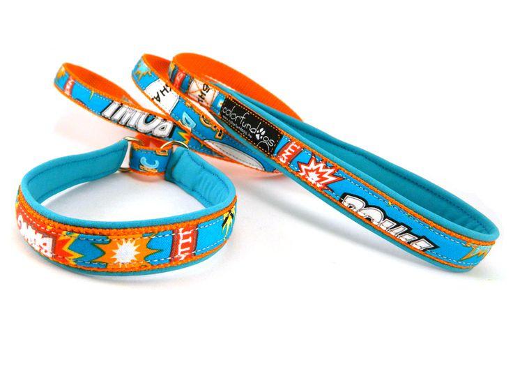 Agility leash, with homemade ribbon / Agility nyakörves póráz, saját készítésű szalaggal. #colorfundogs #agilityleash
