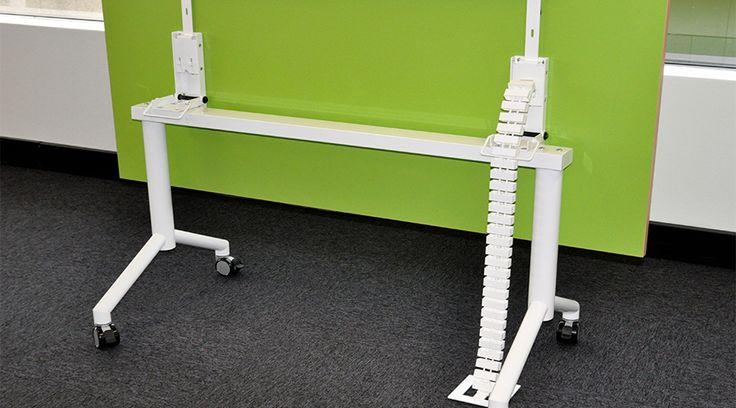 Elsafe Cable Snake on a flip desk | The WorkTools Co. @worktoolswork #workit