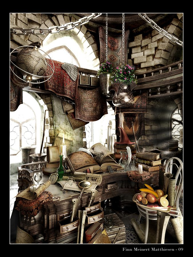 Study Chamber of the Archmage by MadMaximus83.deviantart.com on @DeviantArt