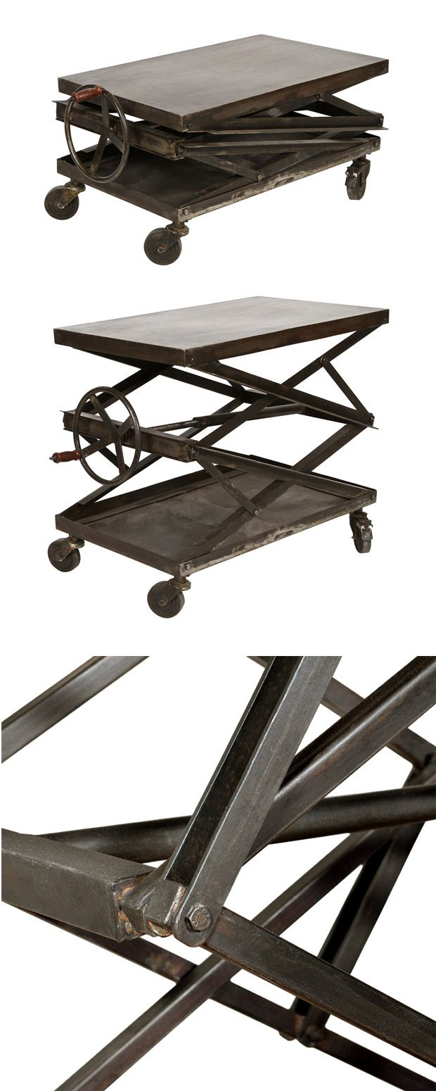 Much of the joy we experience while emulating interior décor of past eras comes in appreciating the simpler furnishings. The Sperry Lift Table offers a priceless reminder of how our ancestors envisione...  Find the Sperry Lift Table, as seen in the Mechanical Wonders at the Interval, San Francisco Collection at http://dotandbo.com/collections/mechanical-wonders-at-the-interval-sf?utm_source=pinterest&utm_medium=organic&db_sku=113923