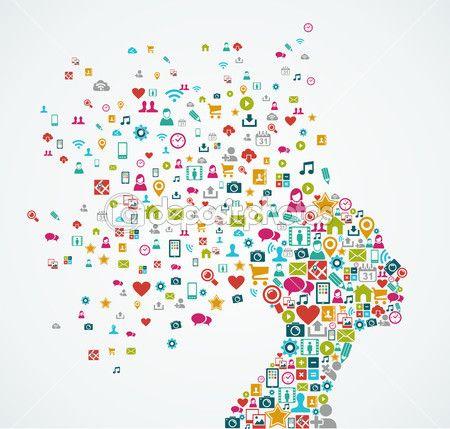 Женщины человека форма головы с иконки социальных медиа дизайн EPS10 филь — Векторная картинка #31510829