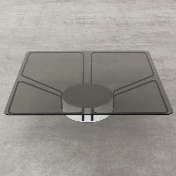 NUNN Design; Concrete, Glass and Coated Metal SAT (Satellite Antenna Table), 2013.