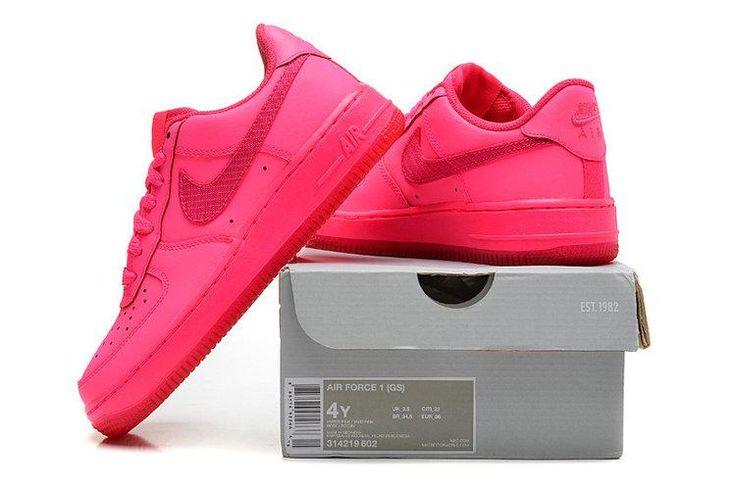 Nike Air Force 1 GS Schoenen Dames Alle Felroze