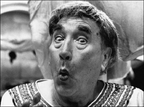 Up Pompeii.  Oooh Err! It came to pass...RIP Frankie Howard, who BTW, had a small part in the original LADY KILLERS.