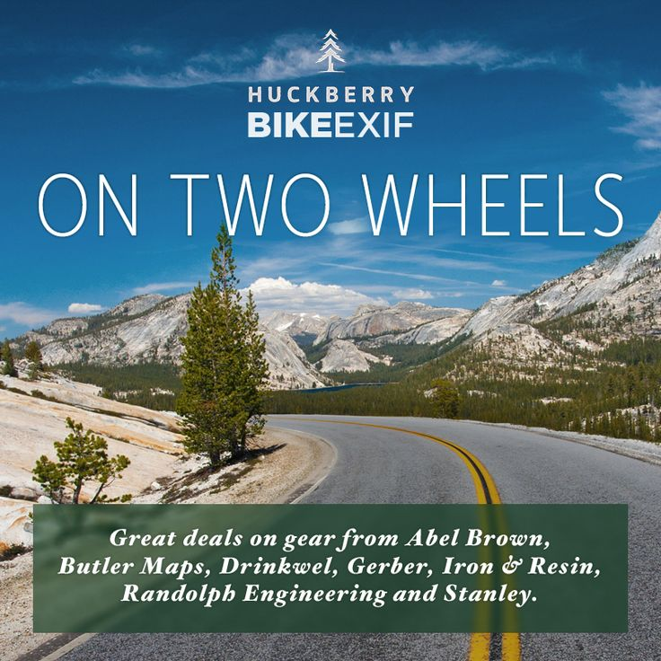 The latest Bike EXIF x @huckberry store has just launched. Step this way for great deals on gear from Abel Brown, Butler Maps, Drinkwel, Gerber, Iron & Resin,  Randolph Engineering and Stanley. And get a $5 credit just for signing up, too!