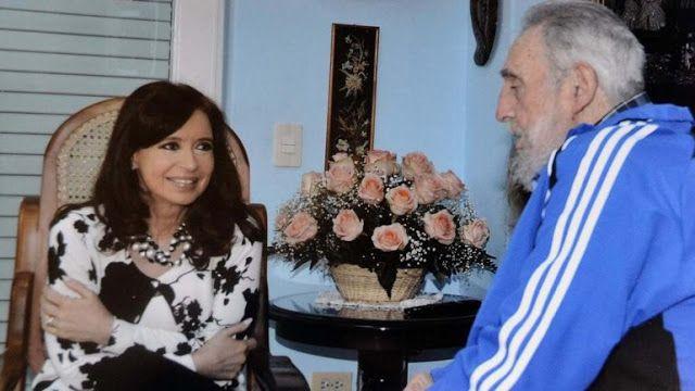 Cristina Kirchner visita en La Habana a Fidel