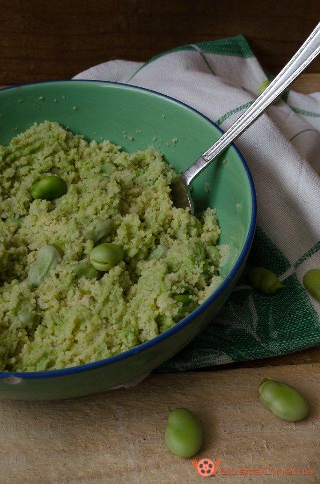 Cous Cous con pesto di fave un primo piatto saporito e profumato. Perfetto da gustare sia a pranzo che a cena.