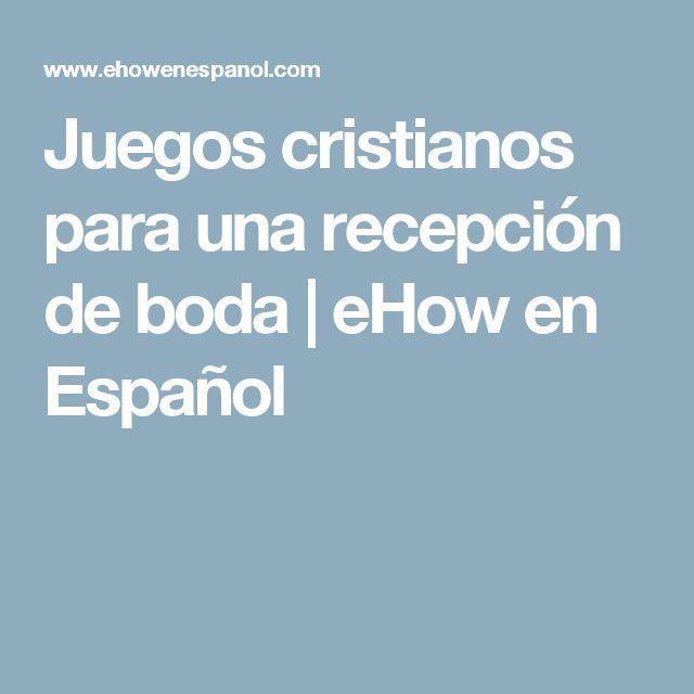 Juegos cristianos para una recepción de boda | eHow en Español