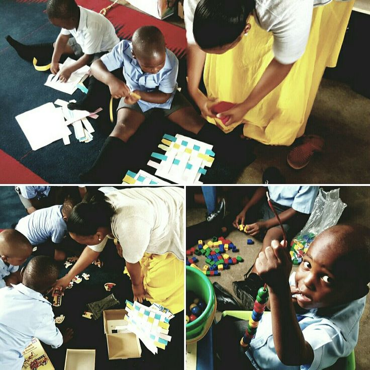 Ms Mtembu, a Diploma in Grade R Teaching student, involving Grade R learners in Indoor Free Play activities during her Practice Teaching session. During indoor free play Grade R learners choose play activities from a classroom environment specially prepared to support their optimal development.