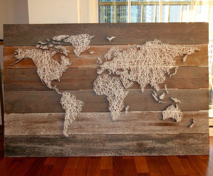 World string art Only cost $30 #stringart #world #diy